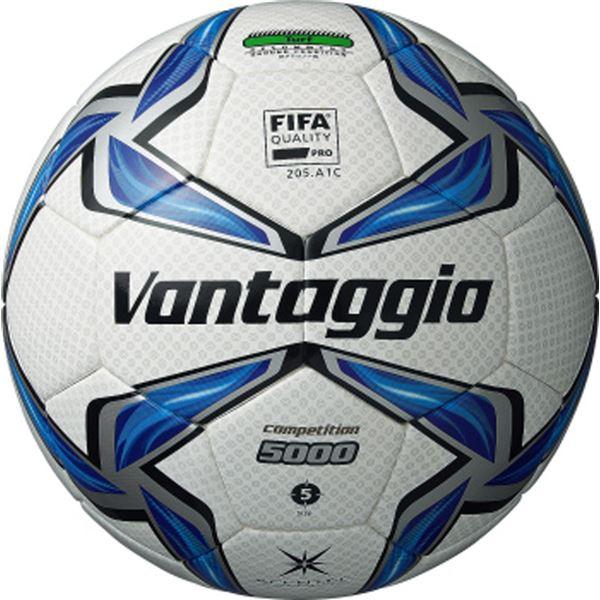 モルテン(Molten) サッカーボール5号球 ヴァンタッジオ5000コンペティション ホワイト×ブルー F5V5002 【代引不可】