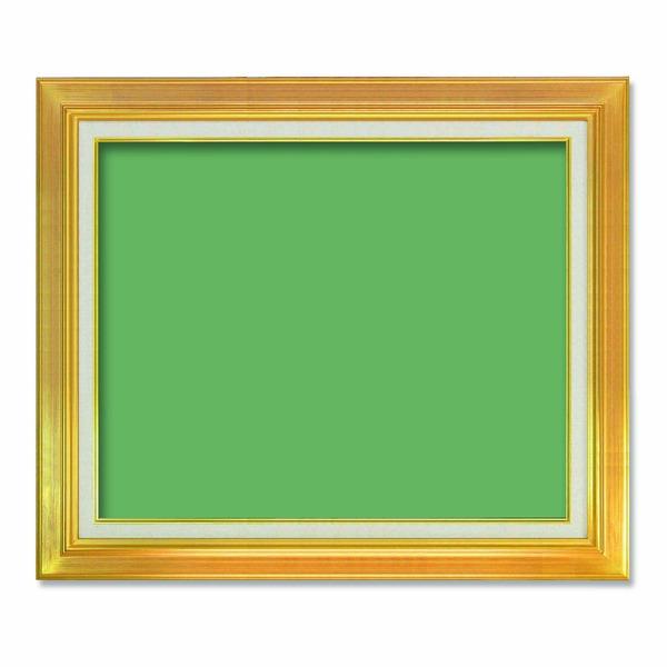 【送料無料】〔油額〕油絵額・キャンバス額・金の油絵額・銀の油絵額 ■7711 F15号(652×530mm)「ゴールド」 【代引不可】