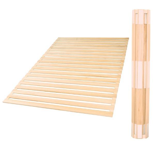 【送料無料】日本製 ロール式桐すのこベッド(ダブル) 【代引不可】