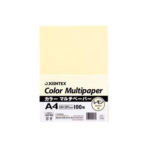 【送料無料】(業務用100セット) ジョインテックス カラーペーパー/コピー用紙 マルチタイプ 〔A4〕 100枚入り レモン A180J-6 ×100セット【代引不可】