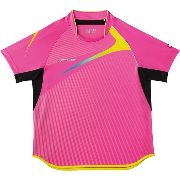 ヤマト卓球 VICTAS(ヴィクタス) 卓球アパレル V-SW025 Viscotecs ゲームシャツ(男女兼用) 031455 ピンク XXOサイズ【代引不可】