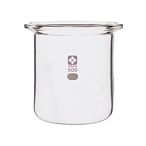 【送料無料】〔柴田科学〕セパラブルフラスコ 円筒形 バンド式 85mm 500mL【代引不可】