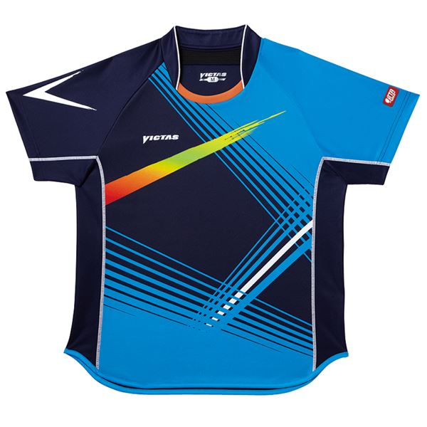 ヤマト卓球 VICTAS(ヴィクタス) 卓球アパレル V-SW028 Viscotecs ゲームシャツ(男女兼用) 031456 ブルー XOサイズ【代引不可】