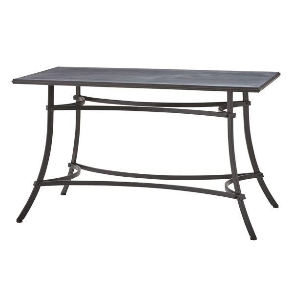 スチール製ダイニングテーブル/リビングテーブル 〔長方形 幅124cm〕 ELS-214 『アンクル』【代引不可】