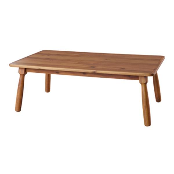 天然木こたつテーブル/ローテーブル 本体 〔長方形 105cm×60cm〕 木製 【代引不可】【北海道・沖縄・離島配送不可】