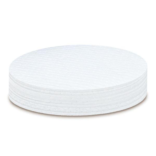 【送料無料】オイルガードドラム缶用マット OG-YT004 ■カラー:白 〔40枚1組〕【代引不可】