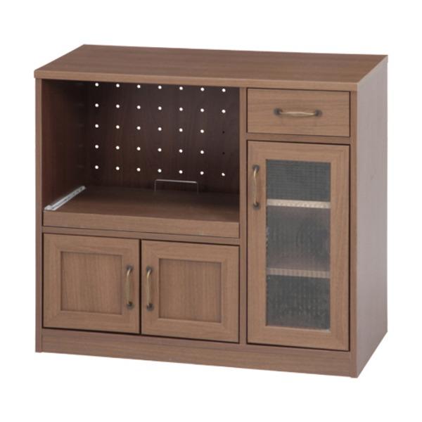 【送料無料】キッチンカウンター 90cm幅 MBR ミディアムブラウン 【代引不可】