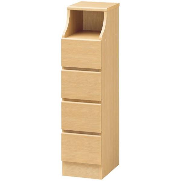 【送料無料】木製シンプルチェスト/タンス 幅28cm×高さ110cm ナチュラル 〔CHESCA〕チェスカ 【代引不可】