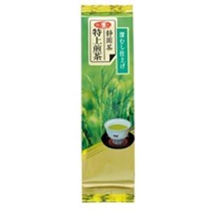 【送料無料】(業務用40セット) 朝日茶業 静岡特上級煎茶深蒸仕上げ 茶葉 100g【代引不可】