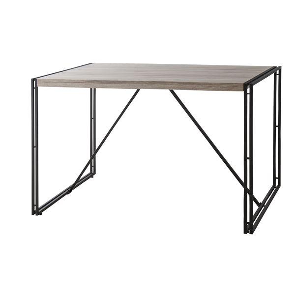 ウッドテイストダイニングテーブル/リビングテーブル 〔幅120cm〕 木目調 『チェスター』 OL-572【代引不可】