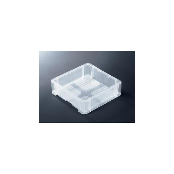 〔10個セット〕 TP規格コンテナボックス 〔TP-331B 穴無し〕 透明 相互モジュール嵌合可【代引不可】