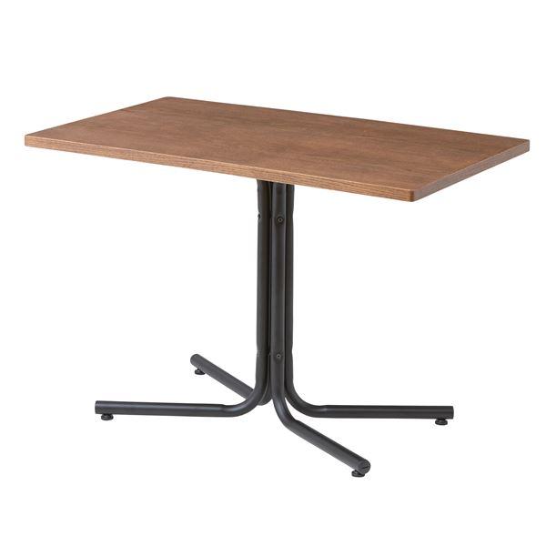 【送料無料】木目調カフェテーブル/リビングテーブル 〔長方形 幅100cm〕 スチールフレーム ブラウン 『ダリオ』 END-224TBR【代引不可】