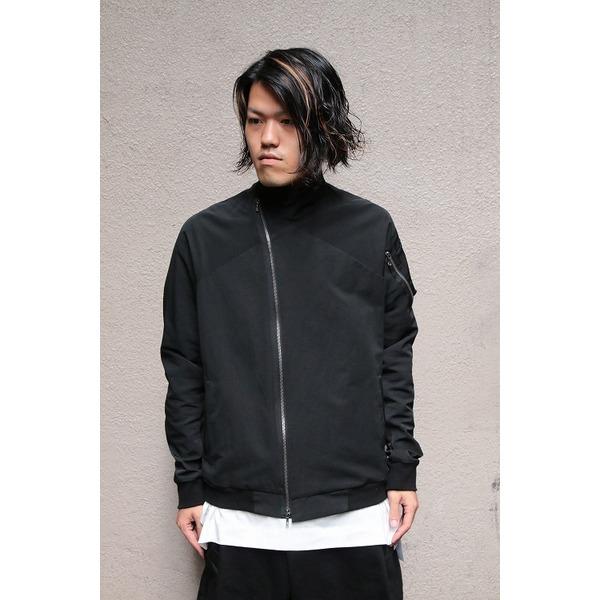 【送料無料】JULIUS ジャットネックボマージャケット BLACK サイズ2【代引不可】