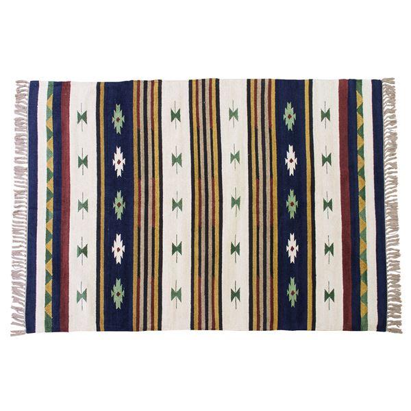 キリムラグマット/絨毯 〔190cm×130cm〕 長方形 ビスコース コットン TTR-106B【代引不可】