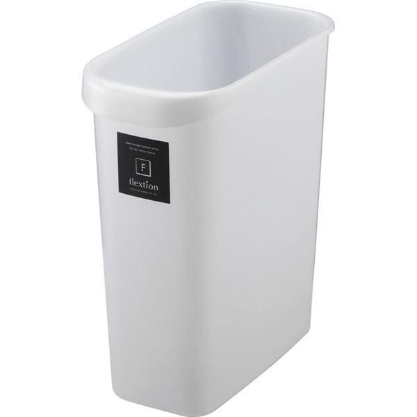 〔32セット〕 スタイリッシュ ダストボックス/ゴミ箱 〔角型 8L メタリックホワイト〕 材質:PP 『Nフレクション』【代引不可】【北海道・沖縄・離島配送不可】