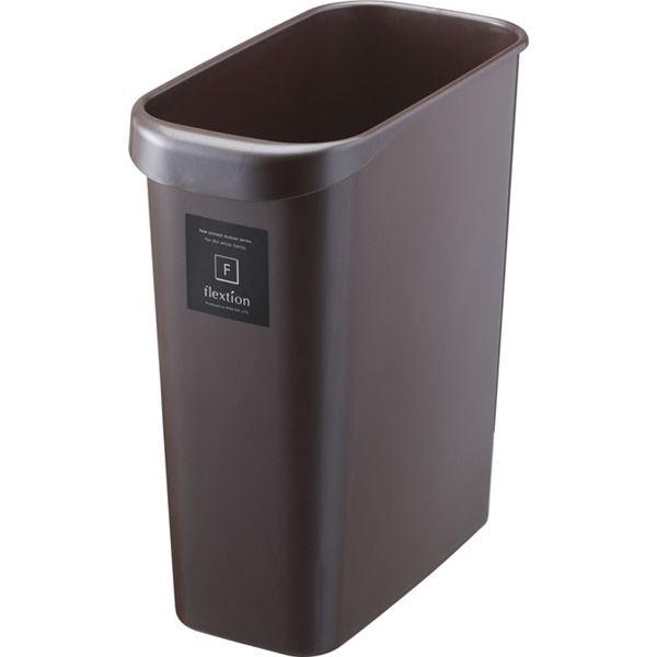 〔32セット〕 スタイリッシュ ダストボックス/ゴミ箱 〔角型 8L パールショコラ〕 材質:PP 『Nフレクション』【代引不可】
