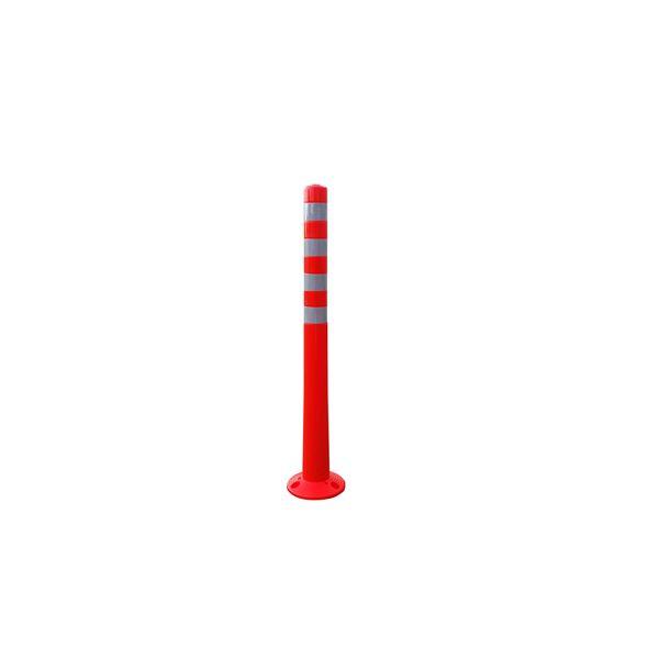 〔5本セット〕 ポリウレタン製視線誘導標/ソフトコーン 〔高さ1000mm〕 3点固定式 専用固定アンカーセット【代引不可】【北海道・沖縄・離島配送不可】