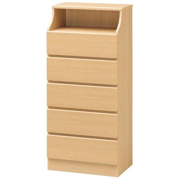 【送料無料】木製シンプルチェスト/タンス 幅60cm×高さ130cm ナチュラル 〔CHESCA〕チェスカ 【代引不可】