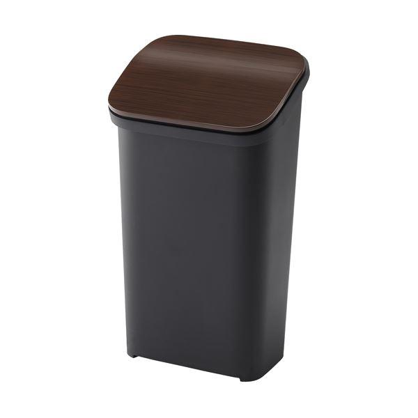 〔6セット〕 シンプル ダストボックス/ゴミ箱 〔ウッド 19L〕 プッシュ 『スムース』【代引不可】【北海道・沖縄・離島配送不可】