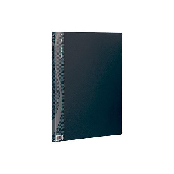 【送料無料】(業務用セット) A3クリアブック 20ポケット ベーシックカラー CB1012D-N ブラック〔×10セット〕【代引不可】