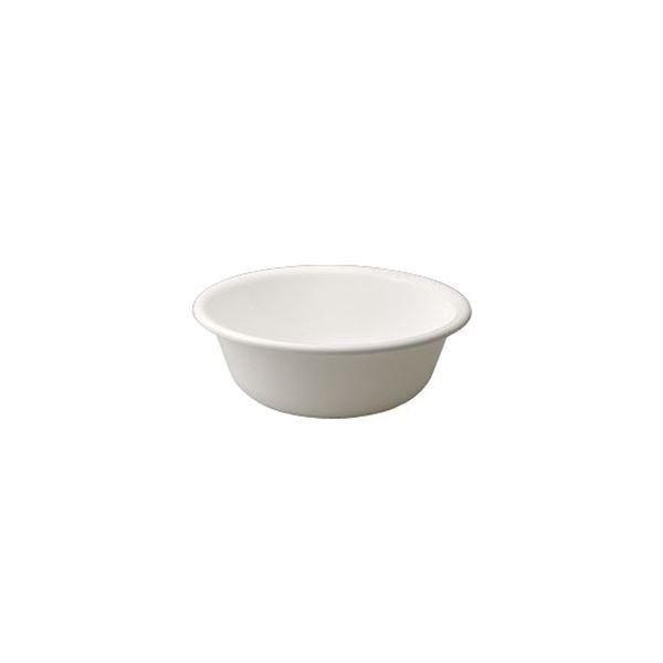 〔50セット〕 シンプル 風呂桶/湯桶 〔ホワイト〕 27×9.5cm 材質:PP 『HOME&HOME』【代引不可】【北海道・沖縄・離島配送不可】