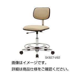 【送料無料】導電性クリーンチェアーSK827-V81【代引不可】