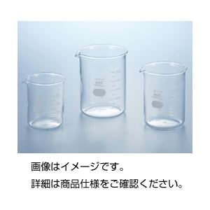 (まとめ)硼珪酸ガラス製ビーカー(IWAKI)1000ml〔×3セット〕【代引不可】