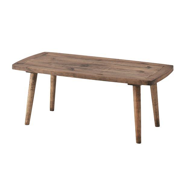 【送料無料】木製コーヒーテーブル/ローテーブル 〔Sサイズ 幅100cm〕 長方形 木目調 PM-451【代引不可】