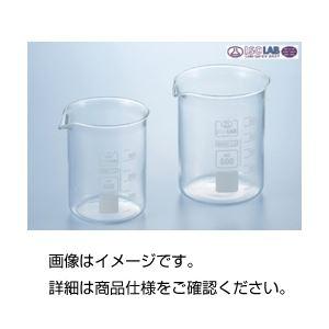 (まとめ)硼珪酸ガラス製ビーカー(ISOLAB)400ml〔×10セット〕【代引不可】