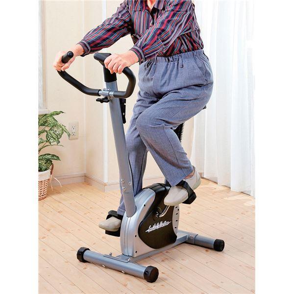 【送料無料】軽量エアロバイク/フィットネスバイク 〔幅87cm〕 サドル6段階調節 負荷調節ダイヤル 時間 速度 距離 消費カロリー表示パネル付【代引不可】