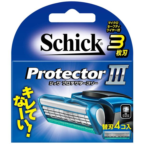 【送料無料】シック(Schick) プロテクタースリー替刃(4コ入) × 12 点セット 【代引不可】