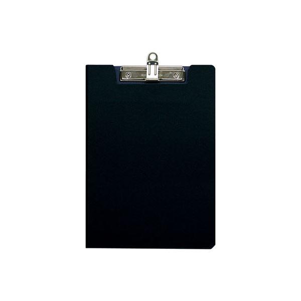 (業務用セット)ナカバヤシ クリップボードカバータイプ A42つ折り ブラック QBC-A4ED〔×10セット〕【代引不可】【北海道・沖縄・離島配送不可】