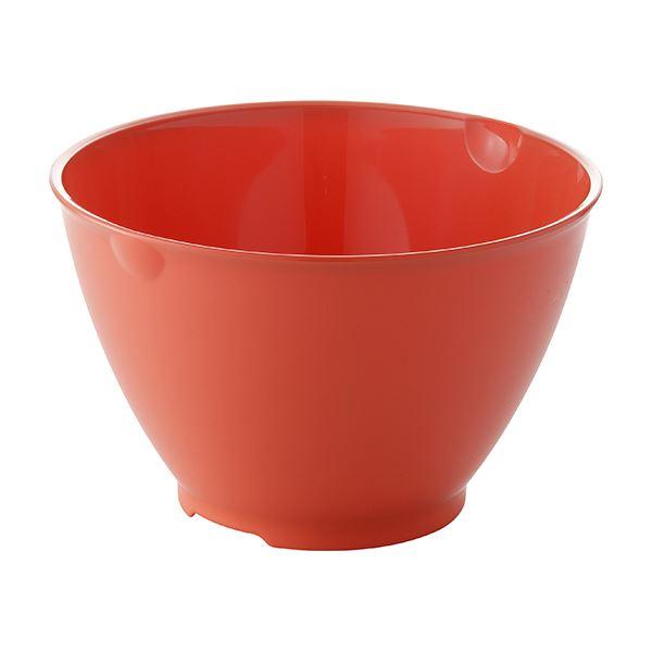 〔60セット〕 ボール/調理器具 〔Lサイズ レッド〕 材質:PP 『リベラリスタ』【代引不可】