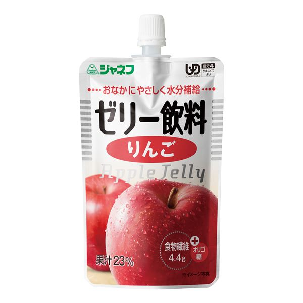 【送料無料】(まとめ)キユーピー 介護食 ジャネフ ゼリー飲料りんご 8袋 12910〔×15セット〕【代引不可】