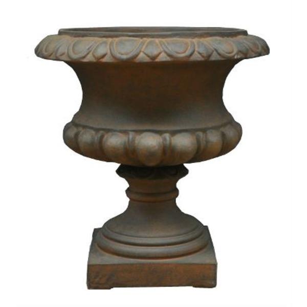 【送料無料】ファイバー製軽量植木鉢 バッセル ハンプトン ラスティ 60cm /植木鉢【代引不可】