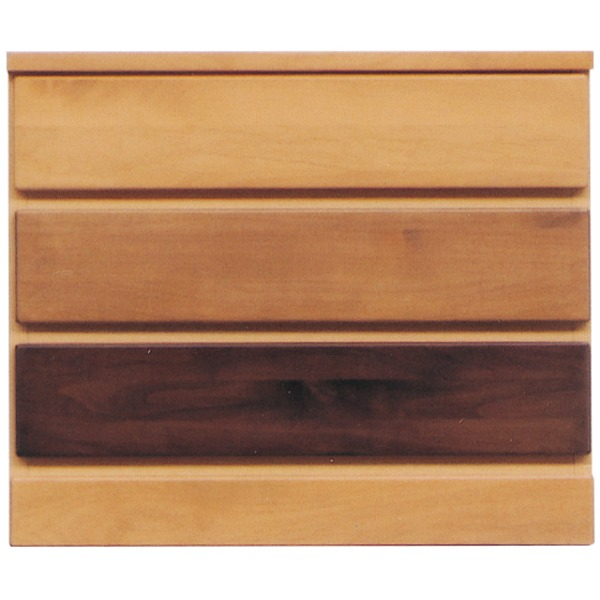 【送料無料】3段チェスト/リビングチェスト 〔幅60cm〕 木製(天然木) 日本製 ナチュラル 〔LOVE〕ラブ 〔完成品 開梱設置〕【代引不可】