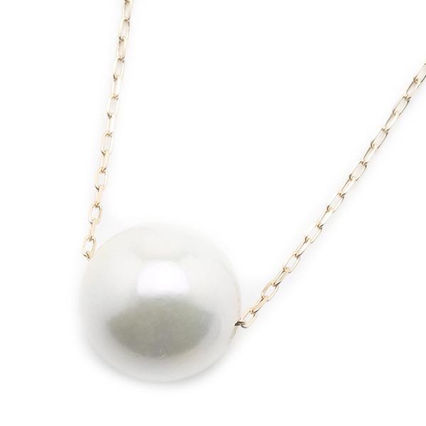 【送料無料】アコヤ真珠 ネックレス パールネックレス K18 ピンクゴールド 8mm 8ミリ珠 40cm 長さ調節可能(アジャスター付き) あこや真珠 ペンダント パール 本真珠【代引不可】