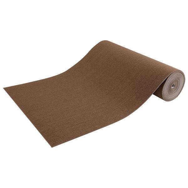 【送料無料】ピタッと吸着マット ロングサイズ ブラウン 60×600cm【代引不可】