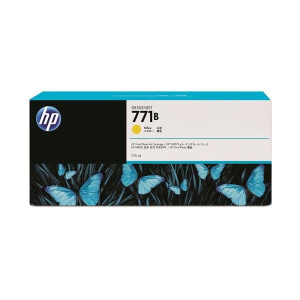 【送料無料】(まとめ) HP771B インクカートリッジ イエロー 775ml 顔料系 B6Y02A 1個 〔×3セット〕【代引不可】
