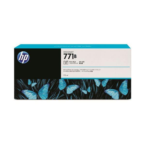 【送料無料】(まとめ) HP771B インクカートリッジ フォトブラック 775ml 顔料系 B6Y05A 1個 〔×3セット〕【代引不可】