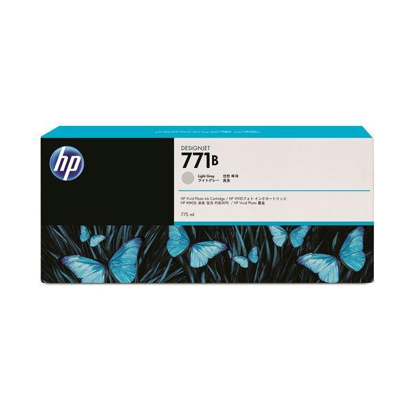 【送料無料】(まとめ) HP771B インクカートリッジ ライトグレー 775ml 顔料系 B6Y06A 1個 〔×3セット〕【代引不可】