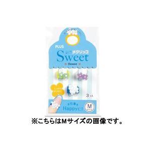 【送料無料】(業務用100セット) プラス メクリッコ SWEET KM-301SB-3 フラワー1 S 3個 ×100セット【代引不可】