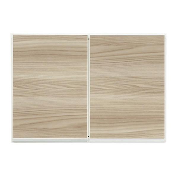 【送料無料】上置き(ダイニングボード/レンジボード用戸棚) 幅60cm 日本製 ブラウン 〔完成品〕〔開梱設置〕【代引不可】