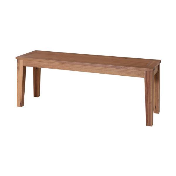 木製ベンチ椅子/ベンチチェア 〔幅134cm×奥行35cm〕 アカシア材オイル仕上げ 『アルンダ』 【代引不可】【北海道・沖縄・離島配送不可】