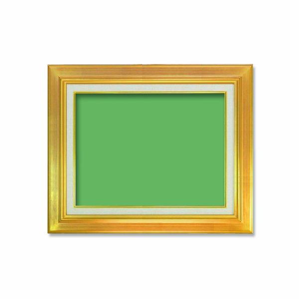 【送料無料】〔油額〕油絵額・キャンバス額・金の油絵額・銀の油絵額 ■P6号(410×273mm)「ゴールド」【代引不可】