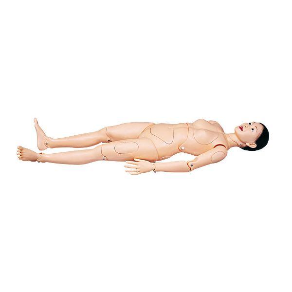 入浴介助練習モデル/看護実習モデル人形 〔清子さん〕 身長160cm シャワー/スポンジ/洗剤使用可 M-100-2【代引不可】【北海道・沖縄・離島配送不可】