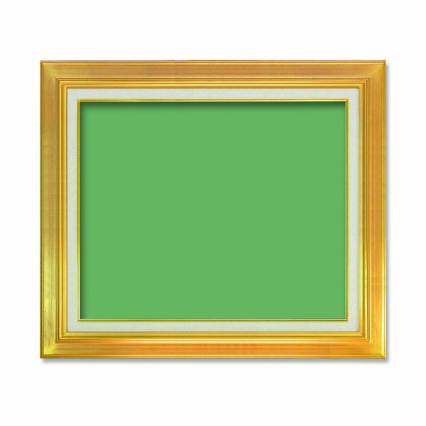 【送料無料】〔油額〕油絵額・キャンバス額・金の油絵額・銀の油絵額 ■P10号(530×410mm)「ゴールド」【代引不可】