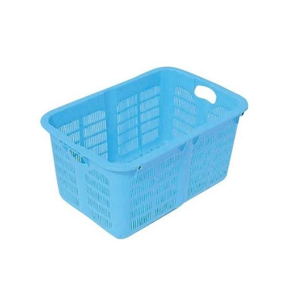 〔10個セット〕プラスケット/網目ボックス 〔No.500 金具なし〕 ブルー スタッキング金具使用時:段積み可【代引不可】