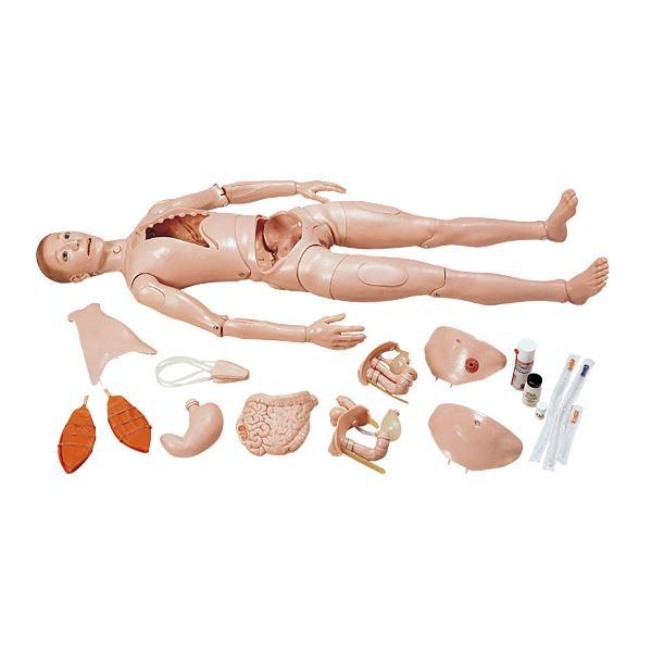 【送料無料】万能型実習モデル人形 〔男女兼用〕 軟質合成樹脂製 身長175cm M-105-0【代引不可】