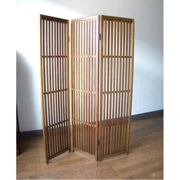 【送料無料】趣スクリーン 3曲 日本製 伝統工芸職人技術 木製 屏風 衝立【代引不可】